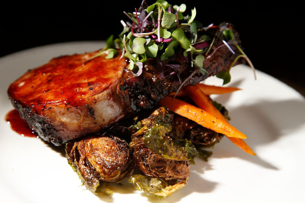 Pork and Sprouts served at Feed Company in Dallas on May 20, 2018.