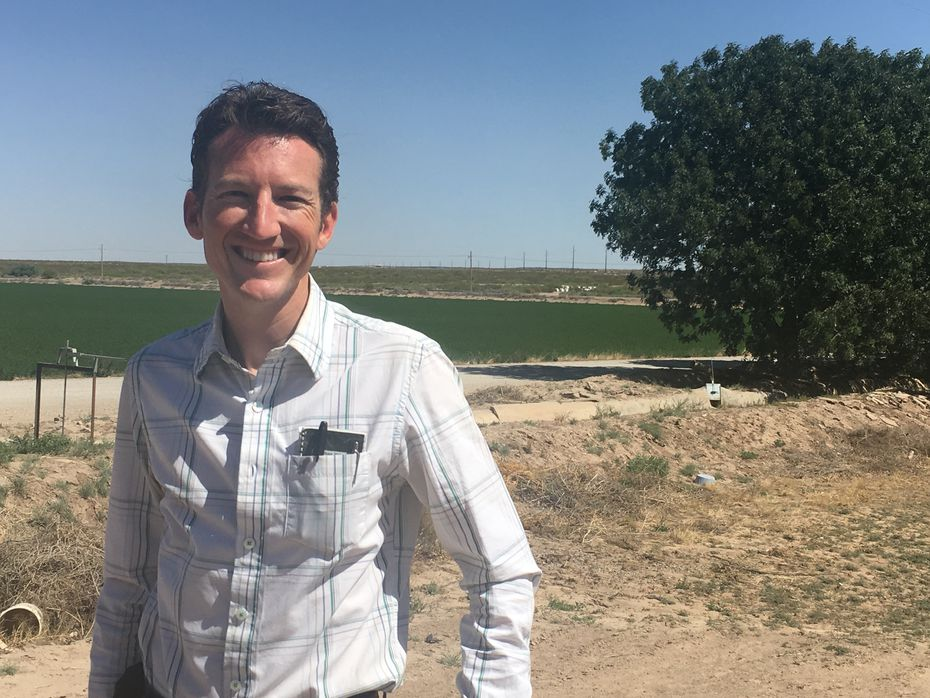 Shannon Ivey, a pecan farmer in Tornillo, wants the existing border fence on his border property in West Texas extended to fill in gaps.