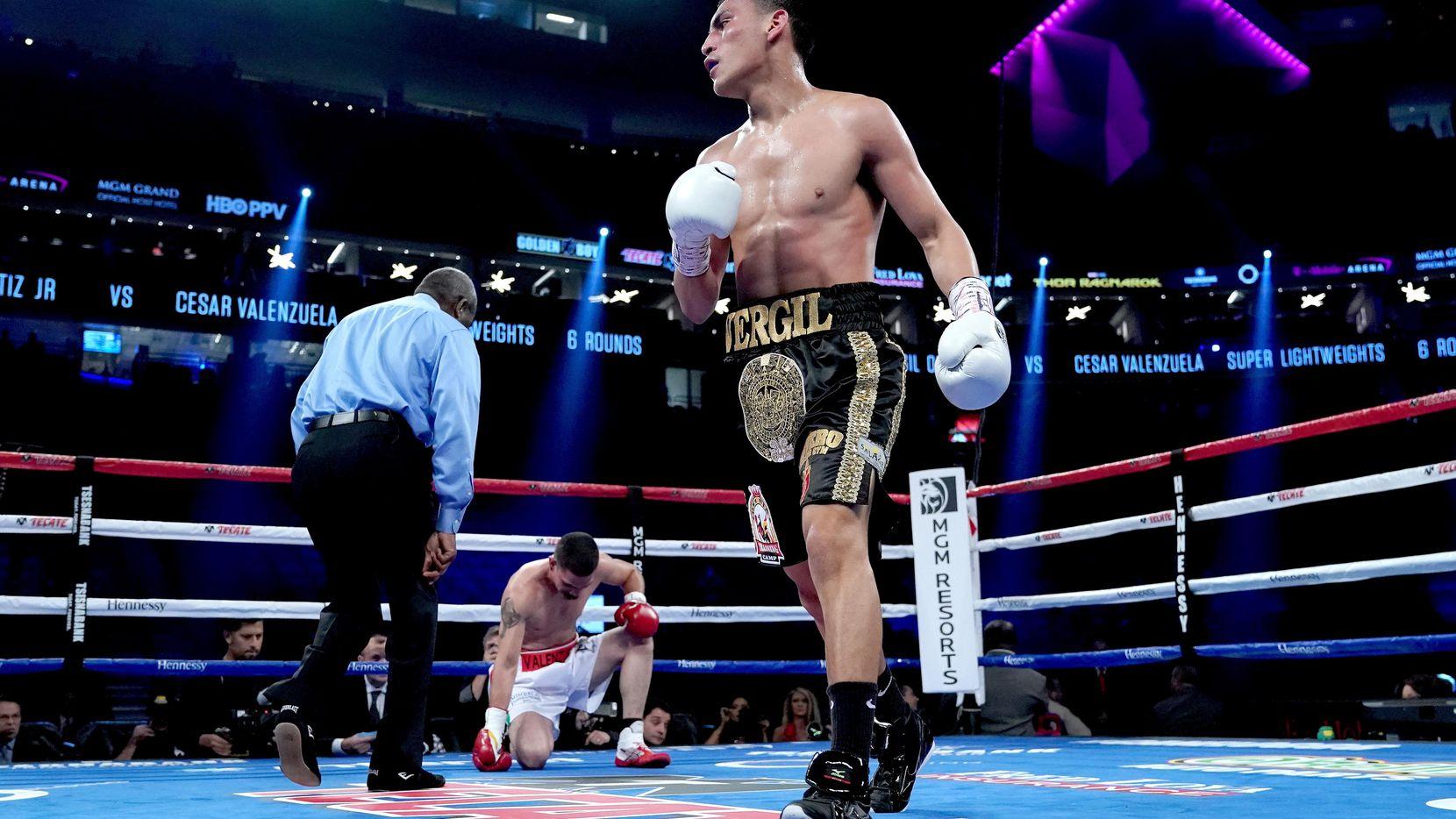 Vergil Ortiz Jr. noqueó a César Valenzuela en la cartelera de la pelea de Saúl Álvarez versus Gennady Golovkin el 16 de septiembre en Las Vegas. (Getty Images/Al Bello)