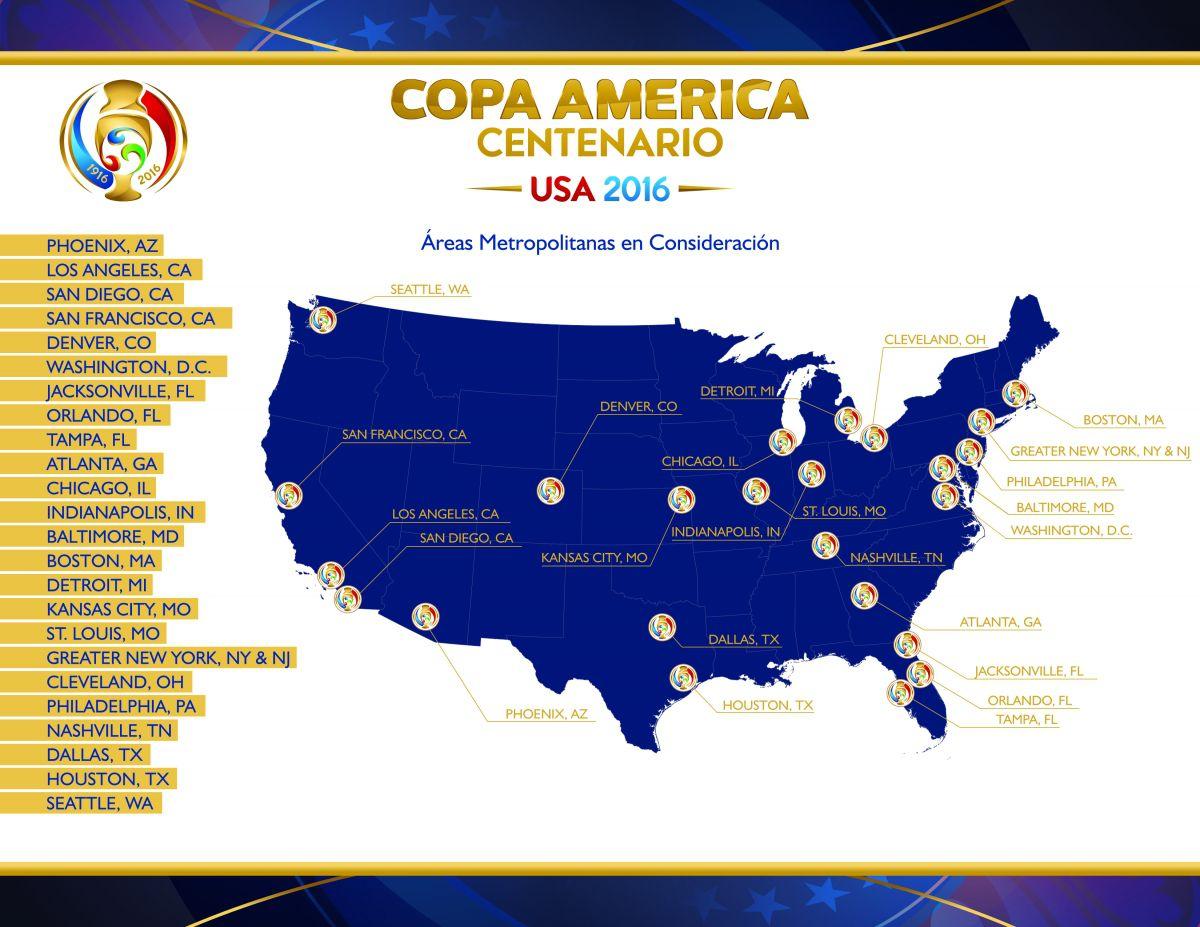 Estas áreas metropolitanas se habían candidateado para ser sede de la Copa América.