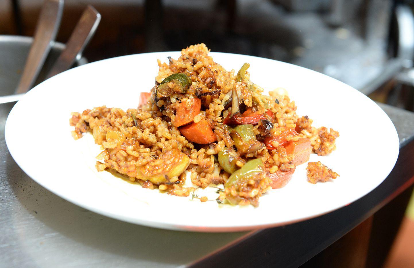 A rice dish at Jaleo in Las Vegas