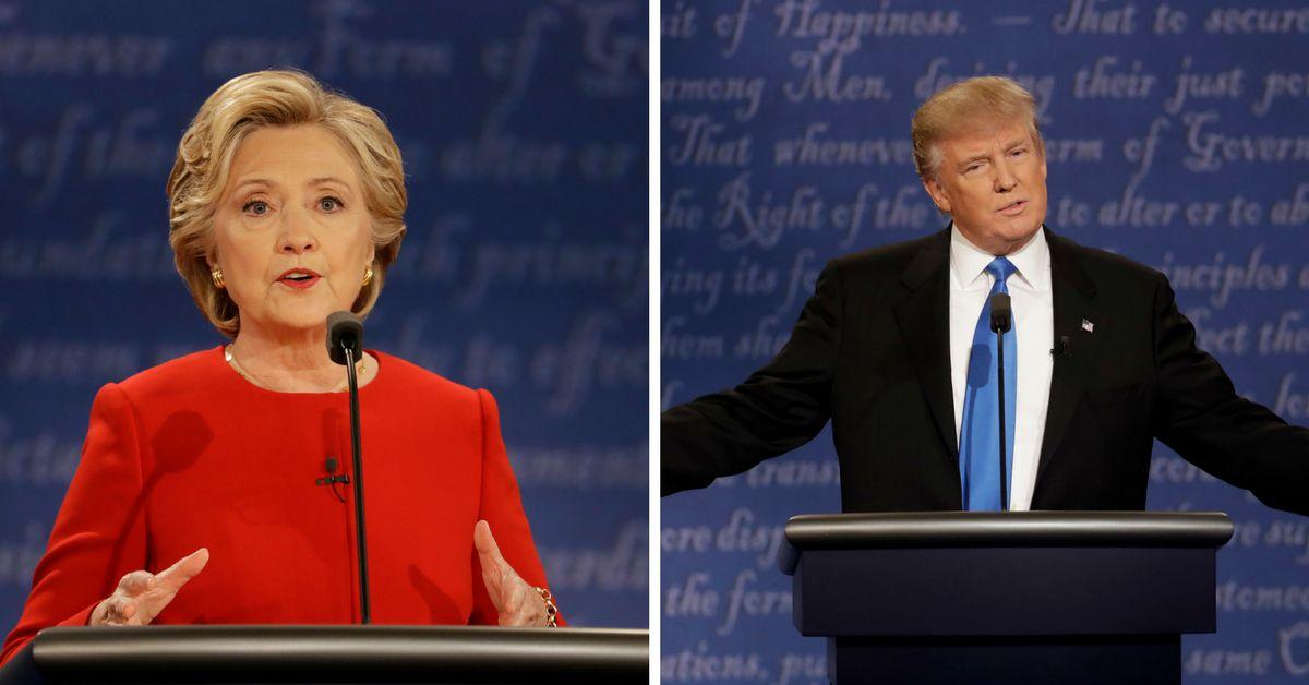 Hillary Clinton y Donald Trump se enfrentaron en el primer debate . / AP