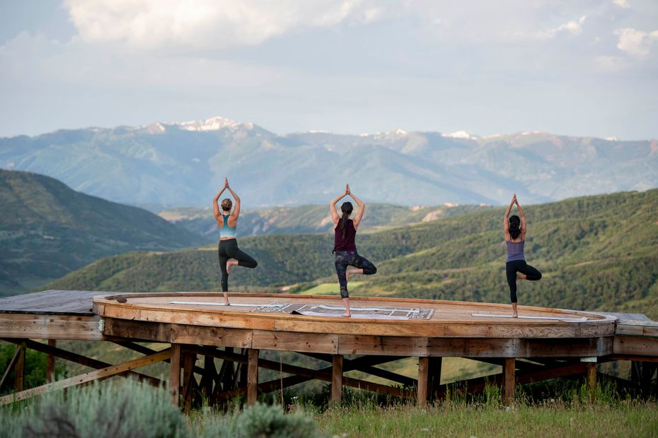 Yoga enthusiasts will find a relaxing backdrop at the new Lodge at Blue Sky, a study of 21st-century cowboy cool tucked into 3,500 acres of wilderness near Park City, Utah.
