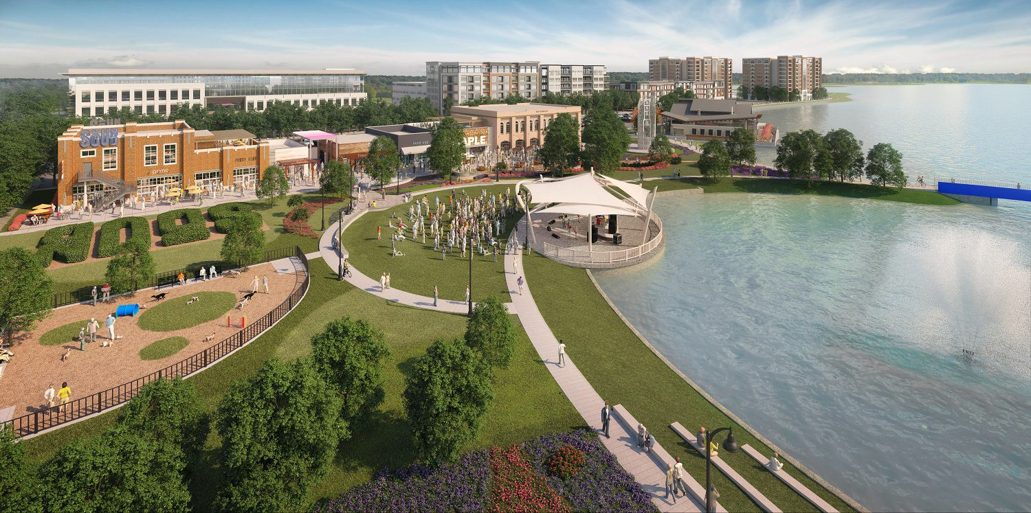 The Sound is the name of the new development on the shores of North Lake that will be home to eight restaurants. Nokia and Brinker International are also moving their headquarters there.