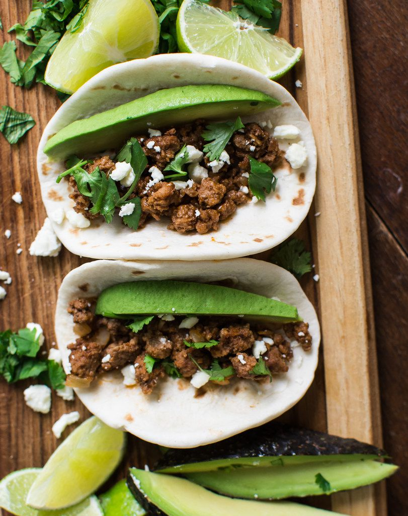 Umami Ground Beef can be used on tacos, with gnocchi or in a skillet supper.