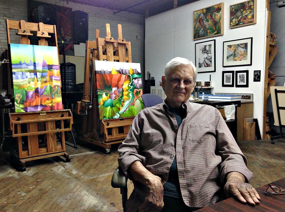 Bob Nunn in his Continental Gin Studio this week