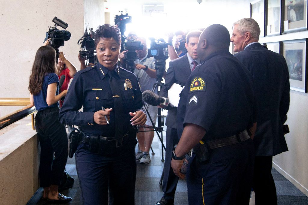 Dallas Police Chief U. Renee Hall at City Hall for a Public Safety and Criminal Justice Committee briefing at Dallas City Hall in Dallas on Monday, June 10, 2019.
