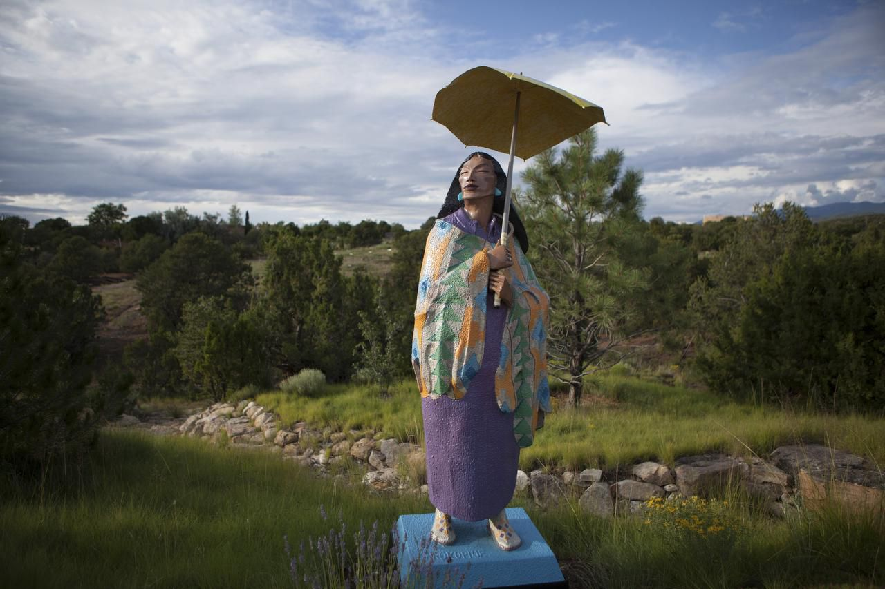 The Santa Fe Botanical Garden is an oasis of calm. Dress in layers -- the sun can be fierce, even in spring.