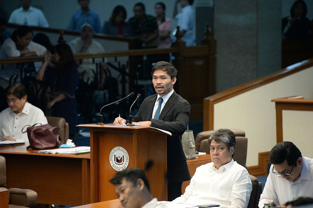 Manny Pacquiao es senador en Filipinas. Foto GETTY IMAGES