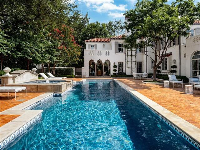 The sprawling Highland Park estate was built in 1934 and recently renovated.