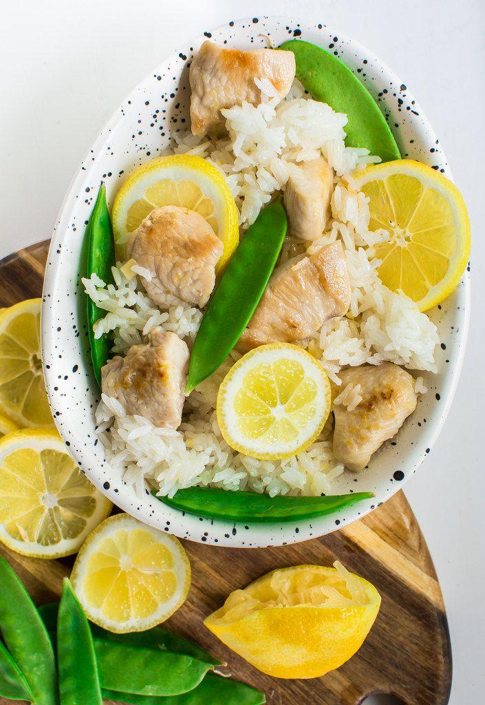 Lemon Garlic Chicken Fried Rice is an easy weeknight dinner.