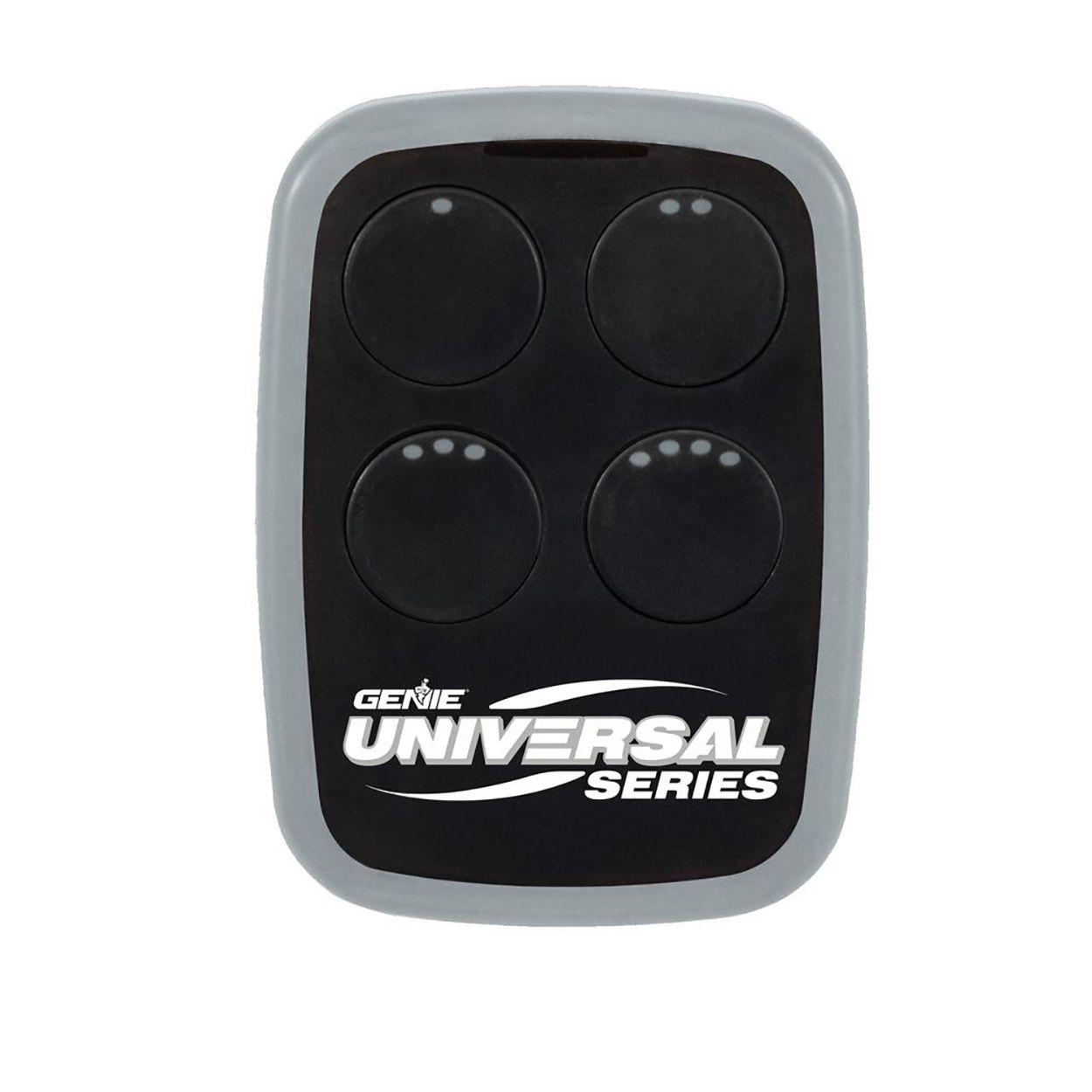 The Genie Universal four-button garage door and gate opener remote