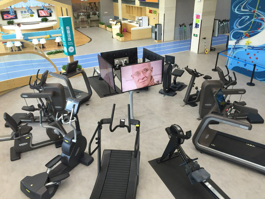 The Cooper Aerobics Health and Wellness Center in Nanjing features state-of-the-world workout equipment.