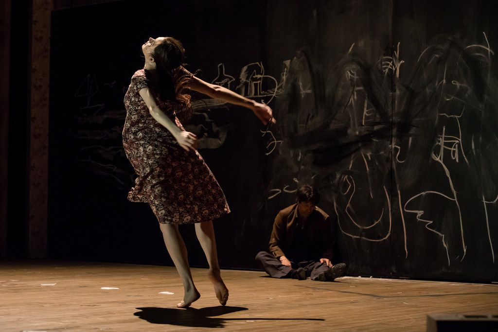 Stephanie Troyak performs in Alan Lucien Oyen's three-hour-long New Piece II for Tanztheater Wuppertal Pina Bausch.