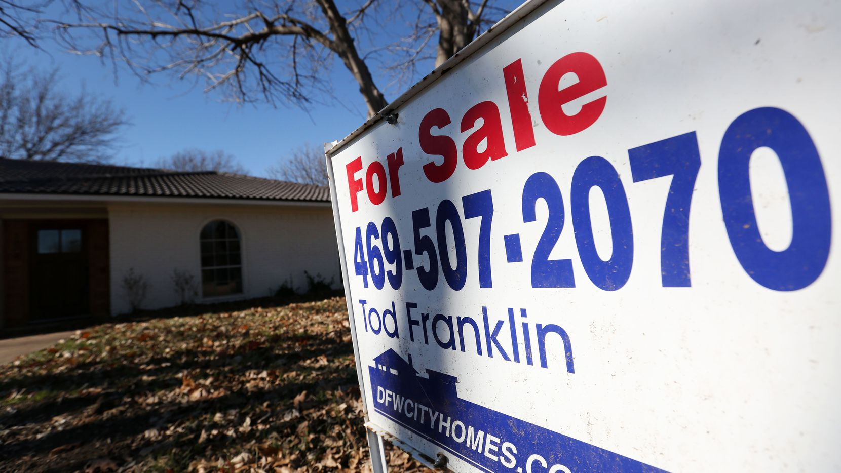 Dallas-area home prices were up only 5.7 percent in the latest Case-Shiller survey.
