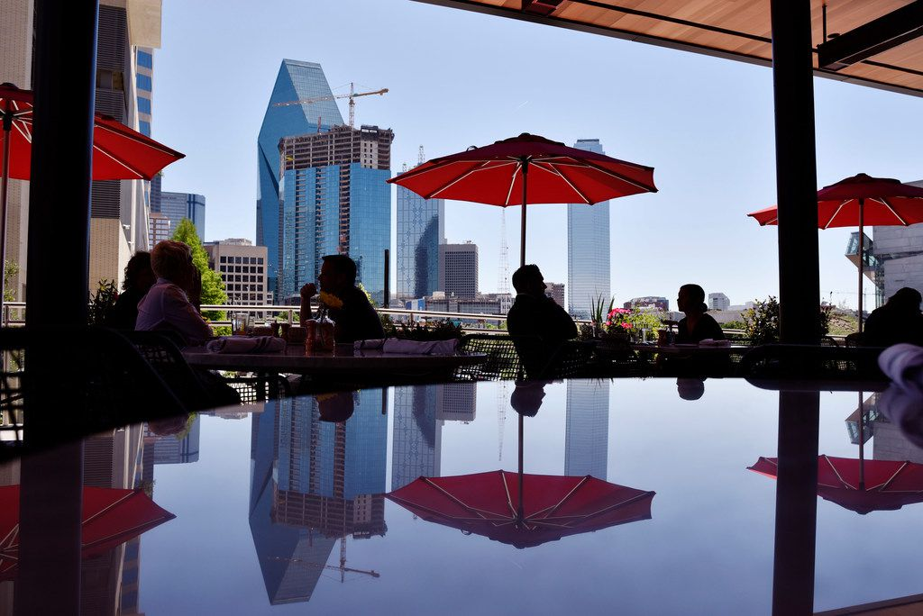 The courtyard patio outside at the restaurant North Italia in Dallas, Friday April 26, 2019. Ben Torres/Special Contributor