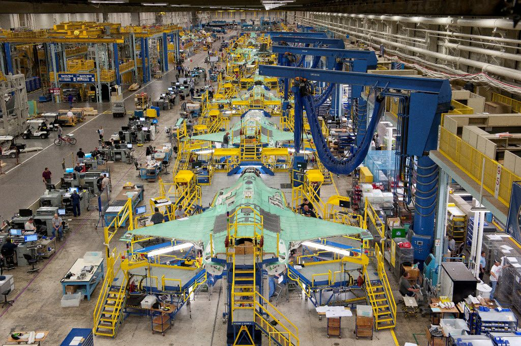 Lockheed Martin in Fort Worth is building F-35 Joint Strike Fighters in three versions for the U.S. Air Force, Navy and Marines and at least 10 other nations, from Britain and Canada to Turkey and Japan.  01172012xBIZ 02272013xALDIA