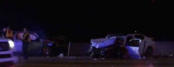 Un automóvil en contravía causó una accidente en el que tres conductores terminaron con heridas serias en la I-635