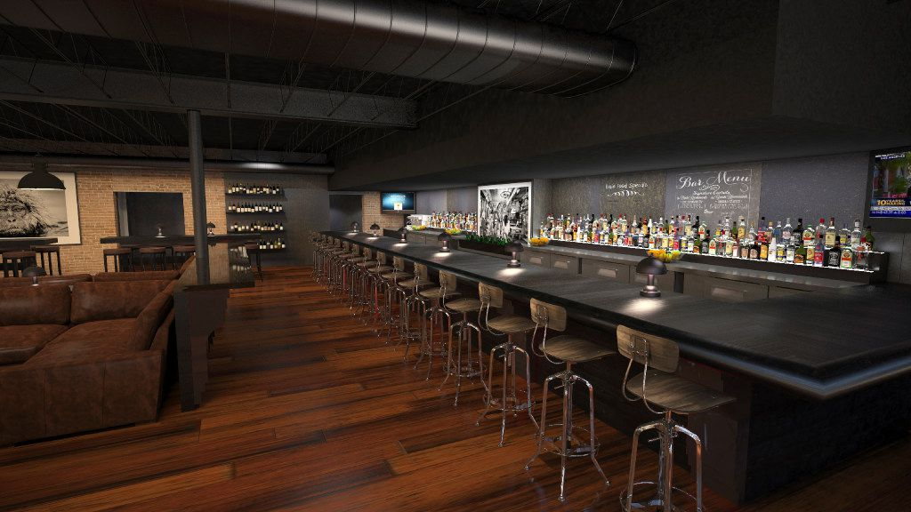 Bar at Phil Romano's Network Bar in Trinity Groves that is slated to open in October.