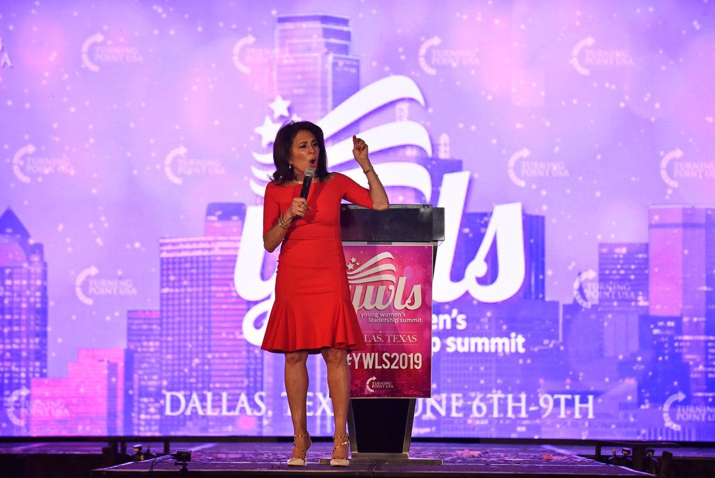 Fox News host Judge Jeanine Pirro speaks during the Turning Point USA Young Women's Leadership Summit at the Hyatt Regency Hotel in downtown Dallas, June 06, 2019.