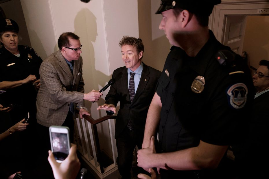 Sen. Rand Paul, R-Ky., blasted House Republican leaders, saying they're keeping their Obamacare repeal-and-replace legislation under lock and key. (J. Scott Applewhite/The Associated Press)
