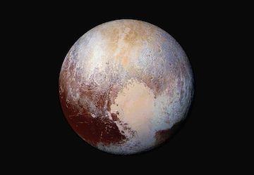 Imagen de Pluto tomada por la sonda espacial Horizons de la NASA, el 24 de julio de 2015. AP