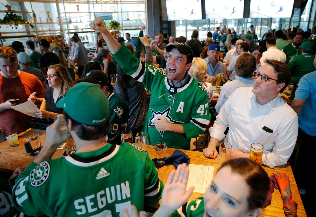 Hero was packed on Tuesday, May 7, 2019 during the playoff Game 7 between the Dallas Stars and the St. Louis Blues.