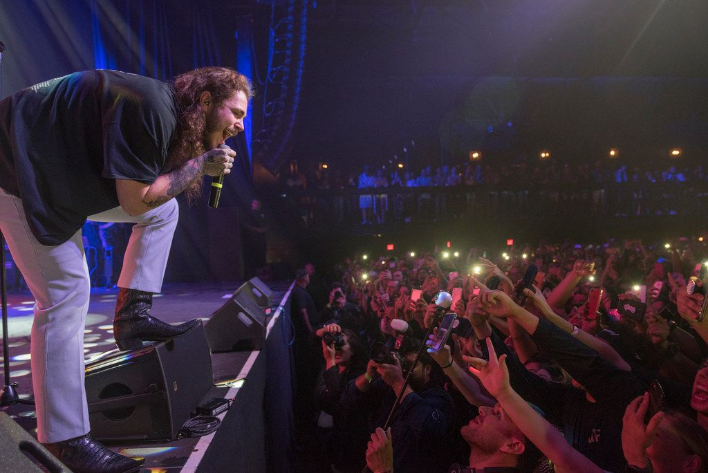 Post Malone performs at The Bomb Factory on Tuesday, Oct. 24, 2017.  (Rex C. Curry/Special Contributor)