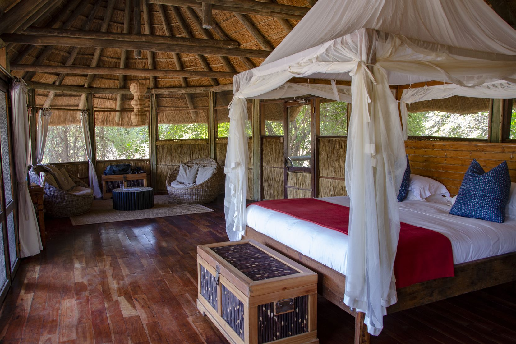 The Bushcamp Co.'s accommodations in Zambia's South Luangwa National Park are rustic and luxurious.