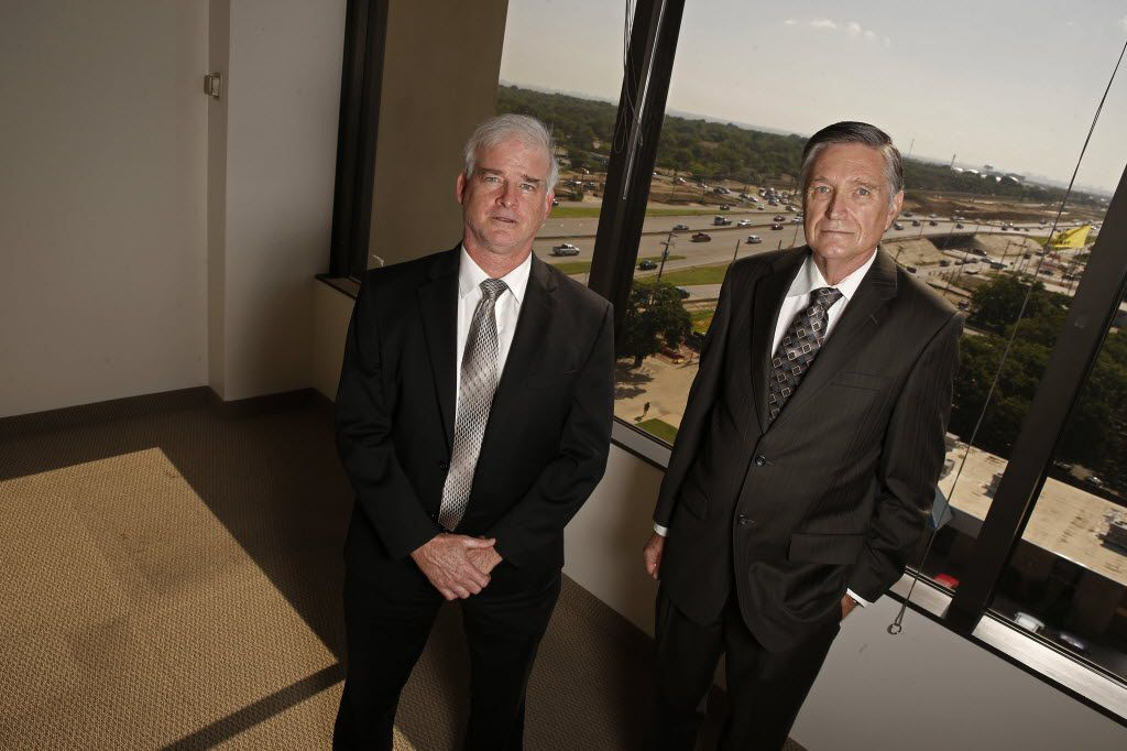 Russell Bowman (left) sued the city of Richardson along with attorney Scott Stewart in 2014 after Bowman received a notice about a red-light camera violation. A state district judge recently ruled the city's camera system violated state law and that  Bowman was not liable for the $75 penalty he received from the city.