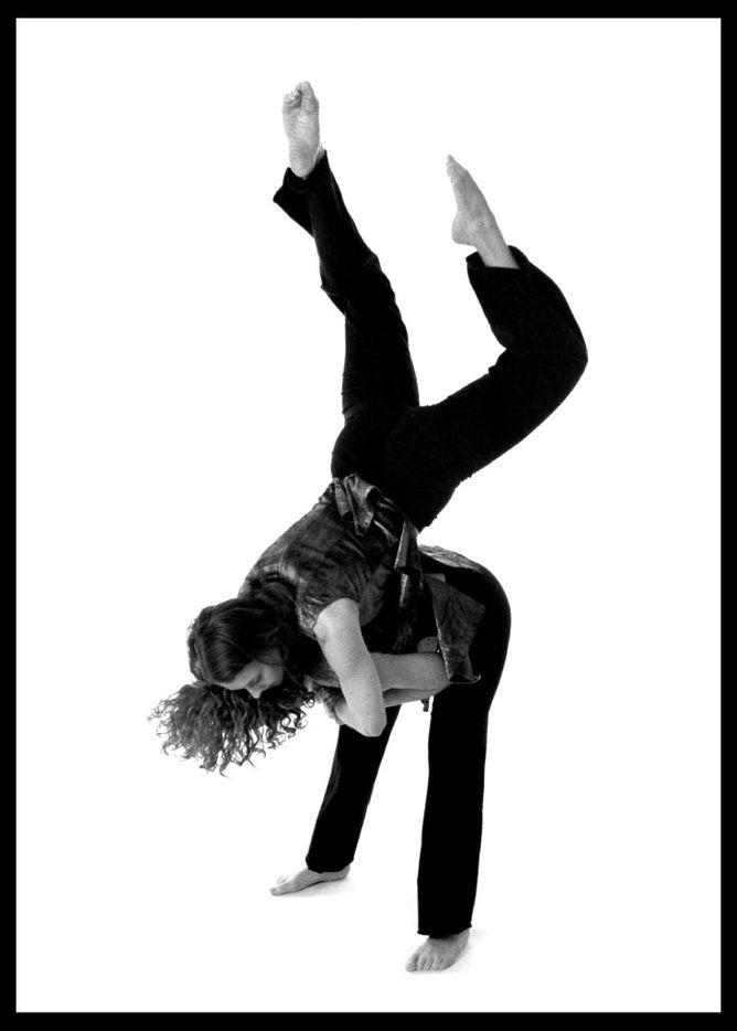Artistic director Ronelle Eddings on the back of dancer Tamara Coalson during Elledanceworks' fourth season, 2000-01.