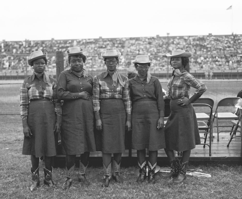 A group of singers from the Goree Unit strike a pose at the Texas Prison Rodeo.