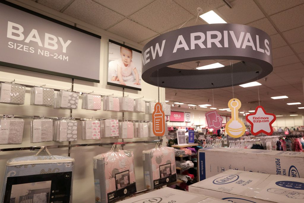 The new baby section at the Collin Creek Mall J.C, Penney in Plano.