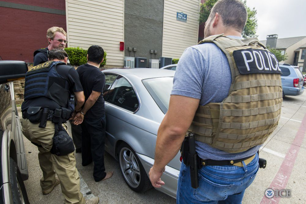 "The ICE operation targeted ""criminal aliens, illegal re-entrants and immigration fugitives,"" the agency said."