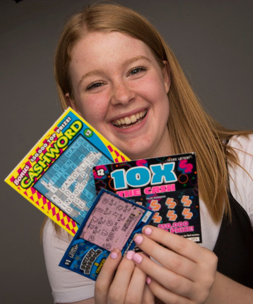 Isenberg knocks scratching lottery tickets off the list of new things she can do as an 18-year-old.