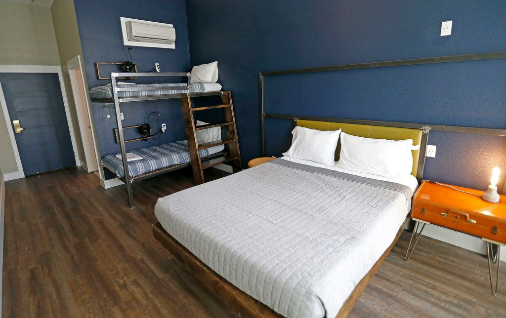 One of five private suites at Deep Ellum Hostel in Dallas, Thursday, July 12, 2018. (Jae S. Lee/The Dallas Morning News)