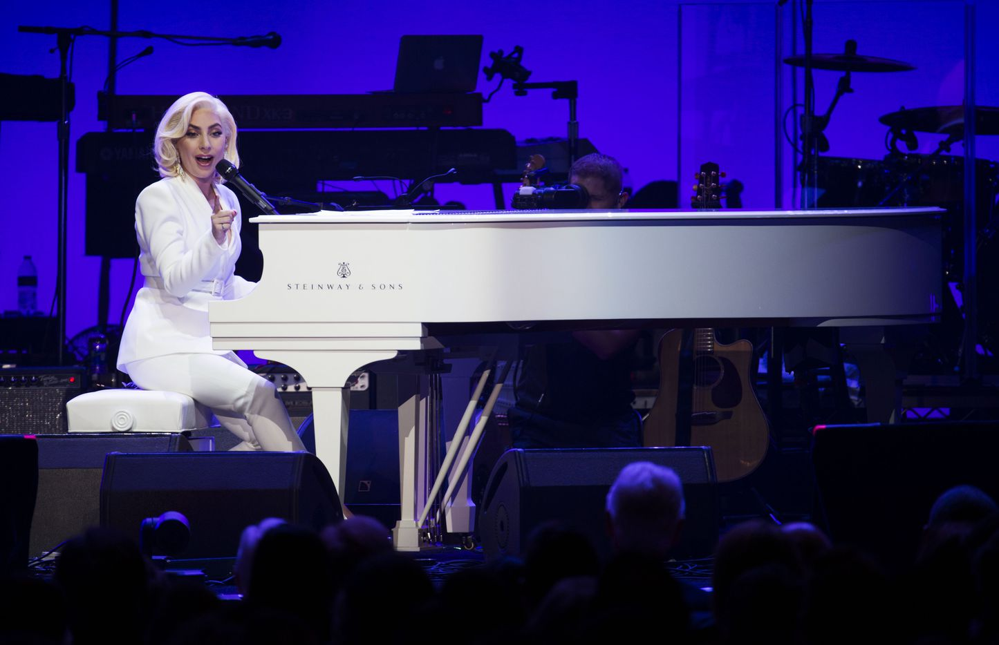 Lady Gaga performs during Deep from the Heart: The One America Appeal Concert.