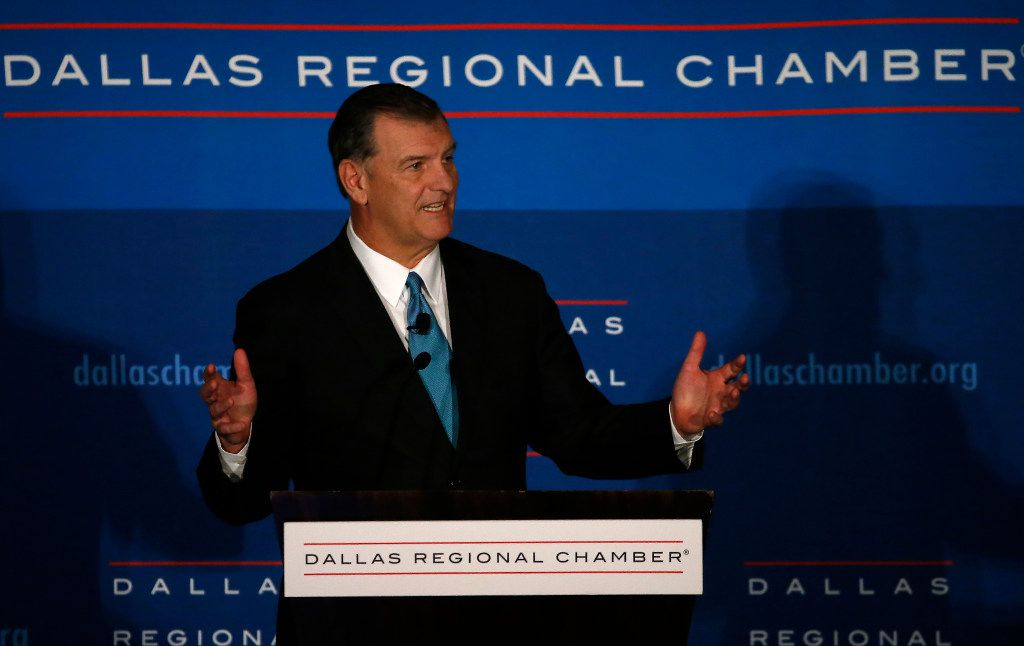 Dallas Mayor Mike Rawlings spoke during State of the City Luncheon at the Omni Dallas Hotel on Dec. 8, 2016. (Jae S. Lee/The Dallas Morning News)