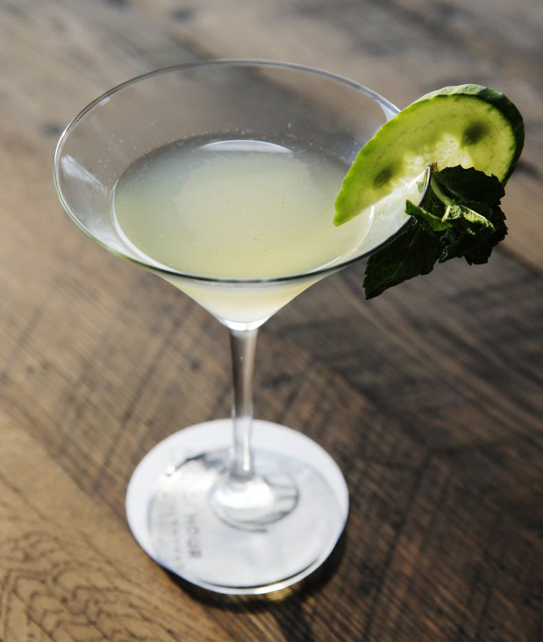 Stars Green Evny made with Effen Cucumber, cucumbers, mint, simple syrup, and fresh lime juice at the Happiest Hour in Dallas on Thursday, October 8, 2015.
