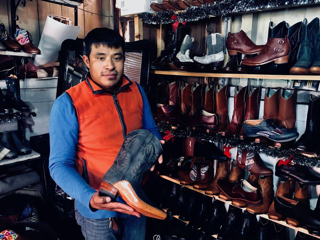 Bootmaker Eduardo Barahona said in January 2019 he is inspired by Texas to work on his leather craft in the town of Pastores, Sacatepequez, in Guatemala.