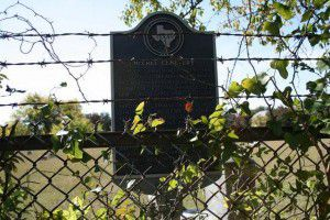 The historic marker at McCree Cemetery in Lake Highlands (File photo)