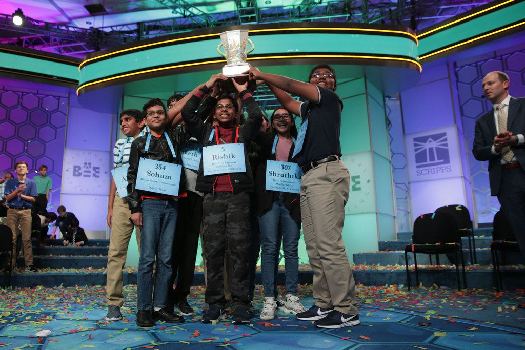 Eight co-champions, three of them from North Texas, were crowned at last month's Scripps National Spelling Bee.