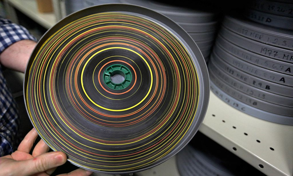 A look at one of the newsreels stored at the SMU film archives