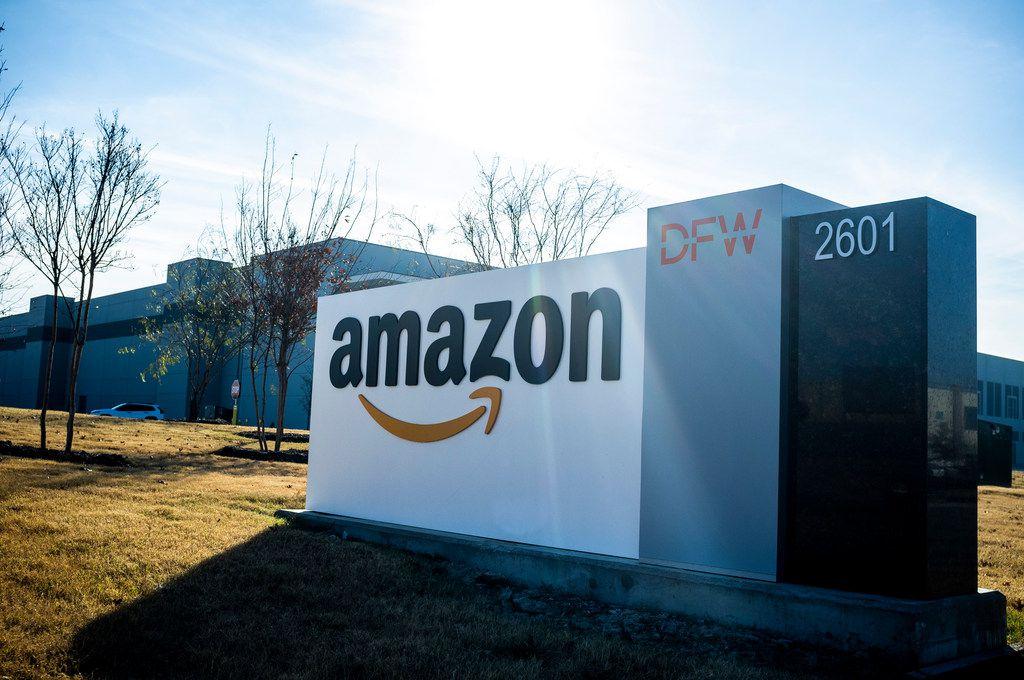 El centro de entregas de Amazon en Grapevine, Texas.