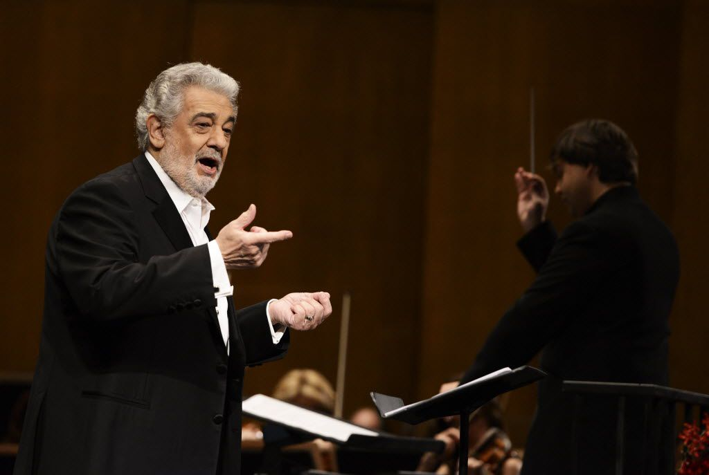 Tenor Placido Domingo performs at the Dorothy Chandler Pavilion in Los Angeles in 2013.. (Photo by Dan Steinberg/Invision/AP, File)