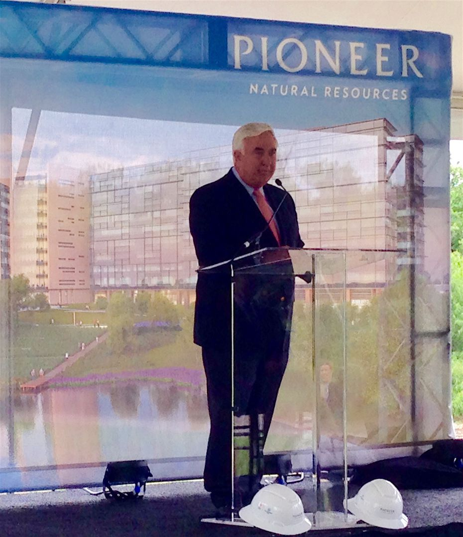 Pioneer Natural Resources CEO Tim Dove at the company's groundbreaking Thursday.