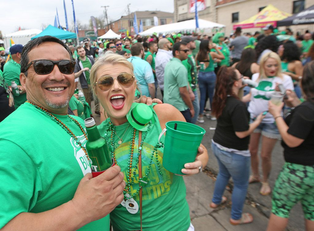 There was dancing in the streets at the block party during the Dallas St. Patrick's Parade & Festival along Greenville Avenue in Dallas on Saturday.
