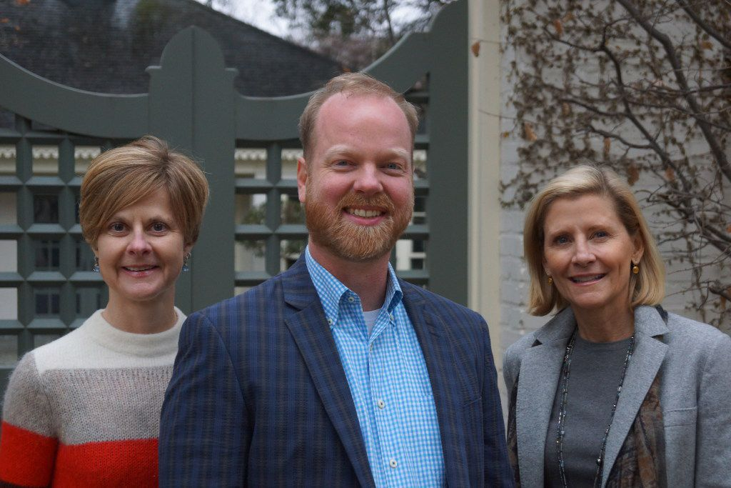 From left to right, Lori Feathers, Jeremy Ellis and Nancy Perot of Interabang Books (Credit: Jake Harris).