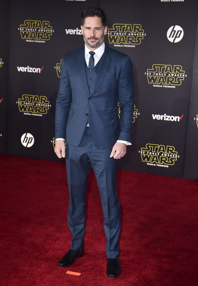 """Joe Manganiello arrives at the world premiere of """"Star Wars: The Force Awakens"""" at the TCL Chinese Theatre on Monday, Dec. 14, 2015, in Los Angeles."""