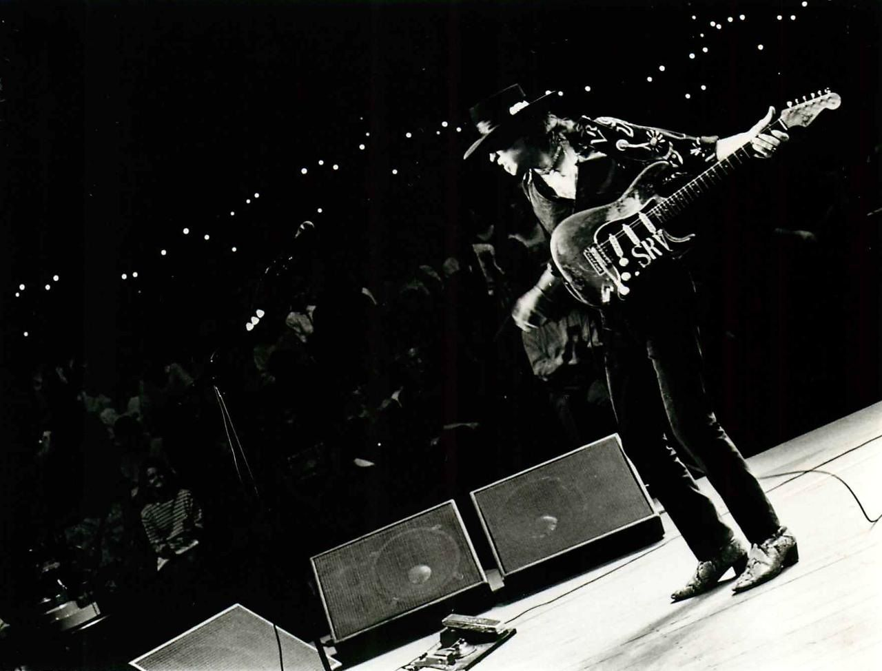 Stevie Ray Vaughan performs in this undated photo (Courtesy)
